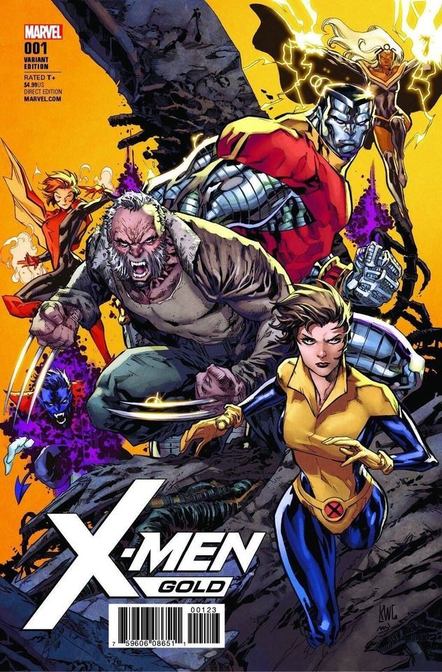 X Men Gold Variant By Ken Lashley Marvel Comics Covers Marvel Comics Art Comic Books Art