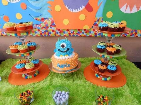 Little Monster First Birthday Party Ideas and Inspiration Dessert