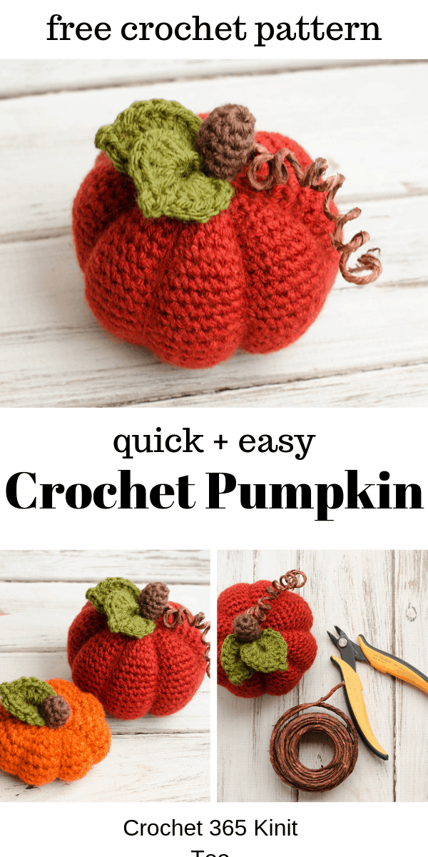Medium Crochet Pumpkin Pattern -   19 knitting and crochet Projects fun ideas
