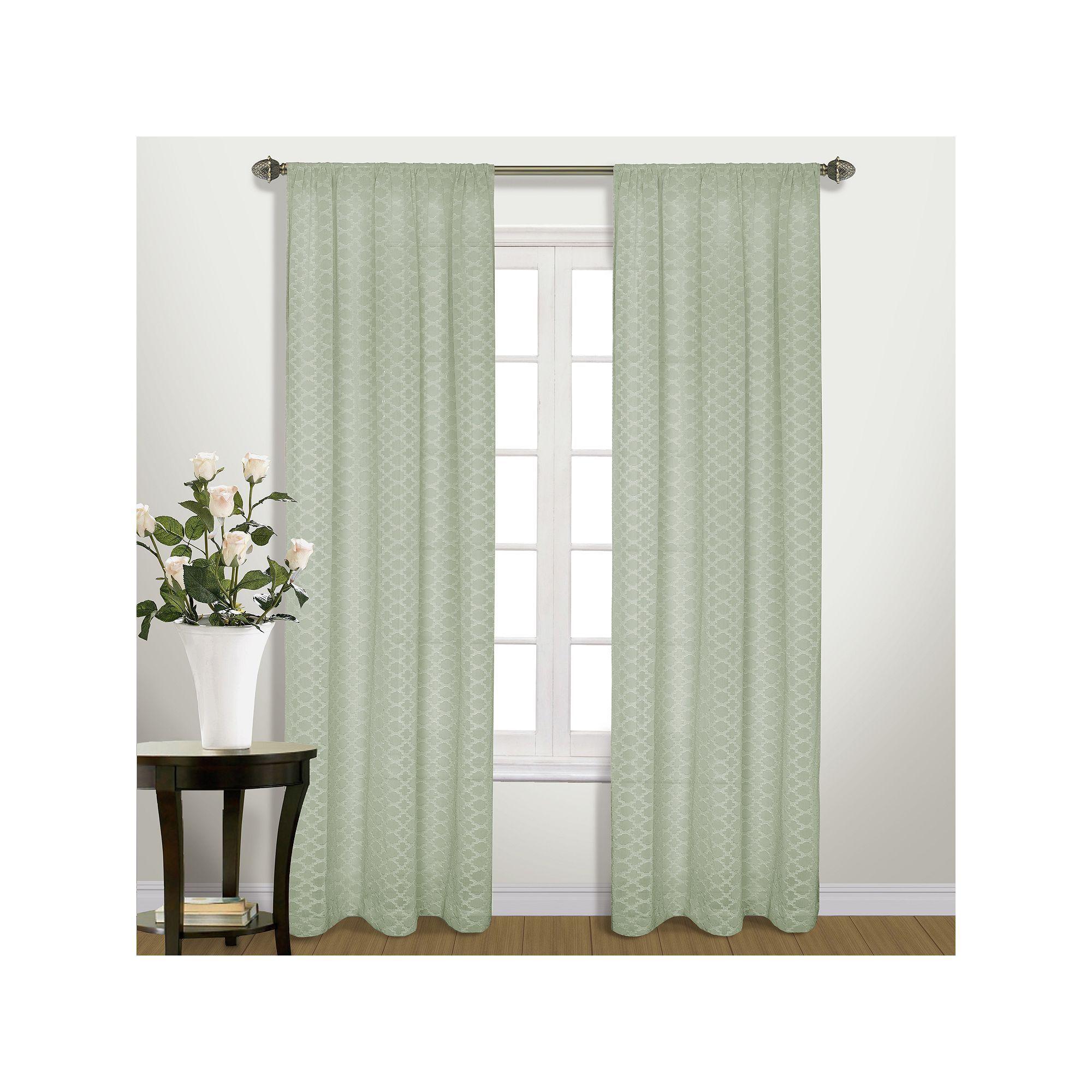 United Curtain Co Belmont Semi Sheer Window Curtain Curtains