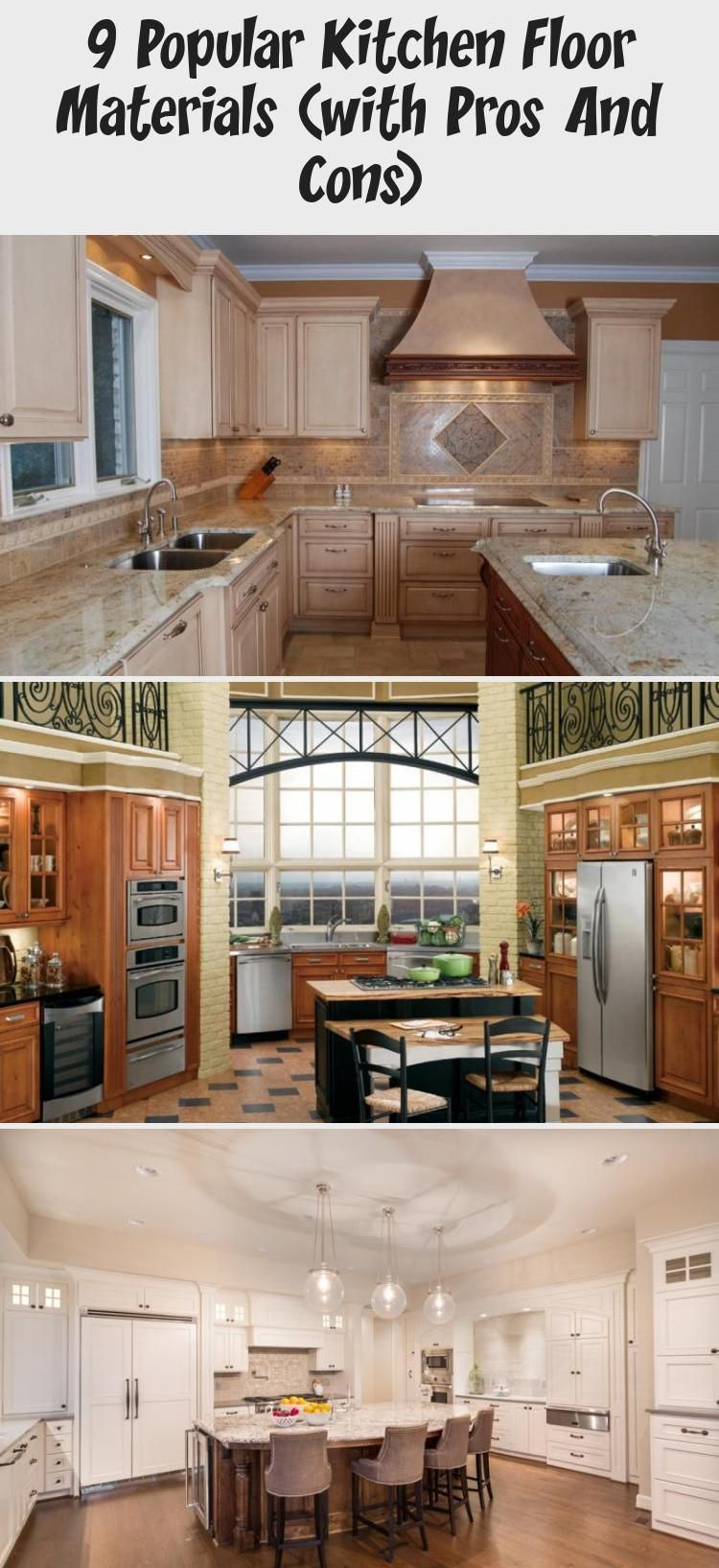 9 Popular Kitchen Floor Materials With Pros And Cons Decorations Acquire The Pros And Cons Virtua In 2020 Popular Kitchens Kitchen Flooring Kitchen Tiles Design