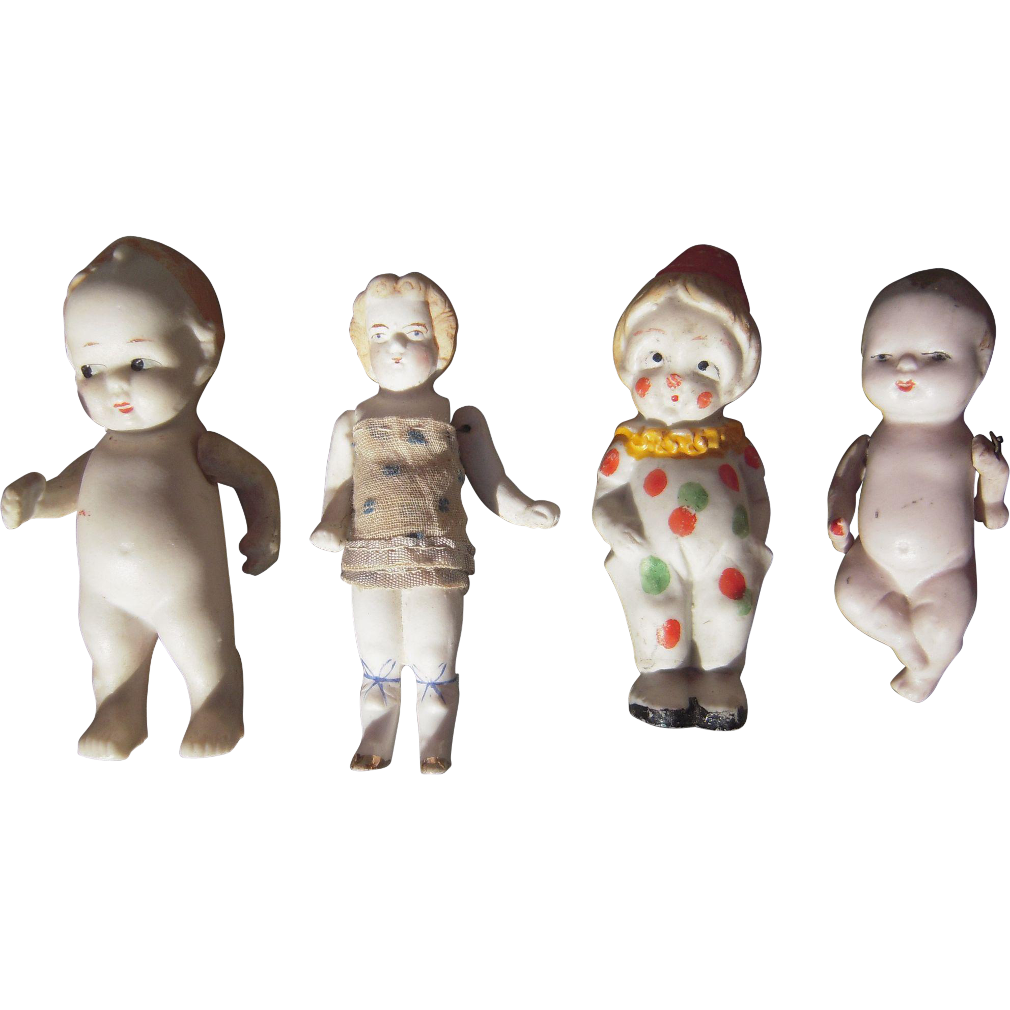 Lot Of 4 Early 20th Century Bisque Dolls Bisque Doll Vintage Dolls Dolls