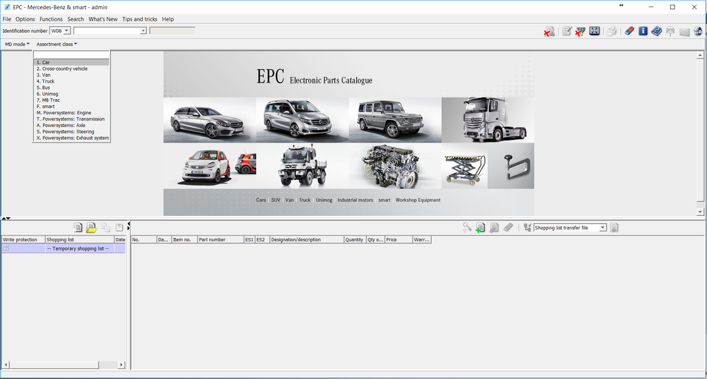 Software Electronic Parts Mercedes Models Software