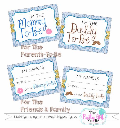 Boys Premium Name Labels: Printable Name Tag Package