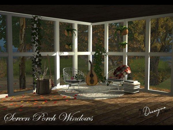 Sims 4 Designs Screen Porch Windows Sims 4 Downloads