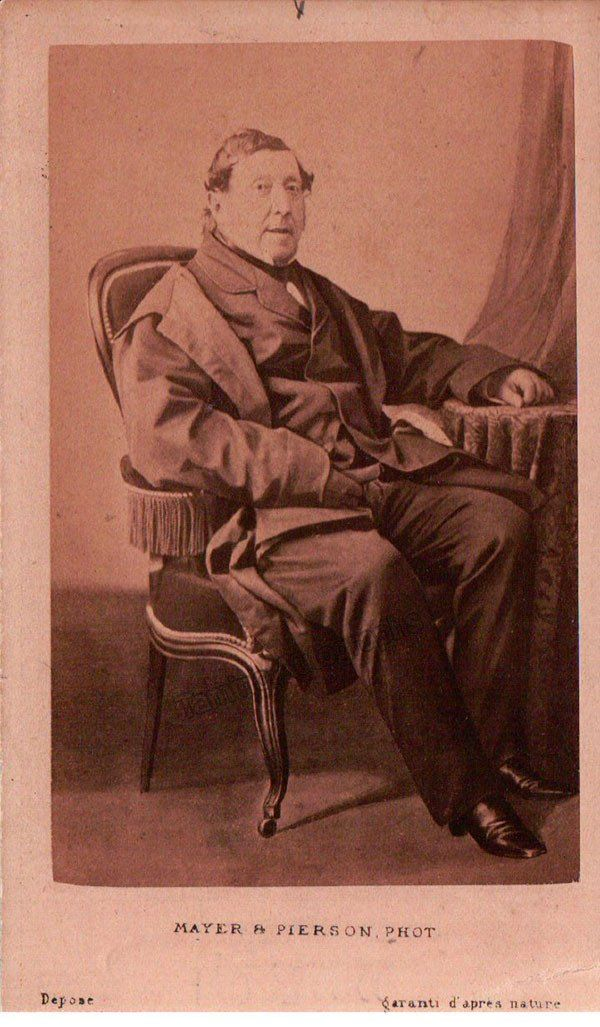 Original Unsigned Carte De Visite CDV By Mayer Pierson Paris Full Body Of The Composer Seated At An Old Age