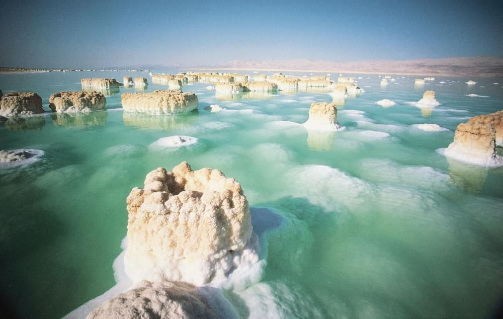 the Dead Sea's salt formations