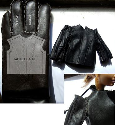 Fashion Doll Stylist- leather coat tutorial | Isabelle | Pinterest ...