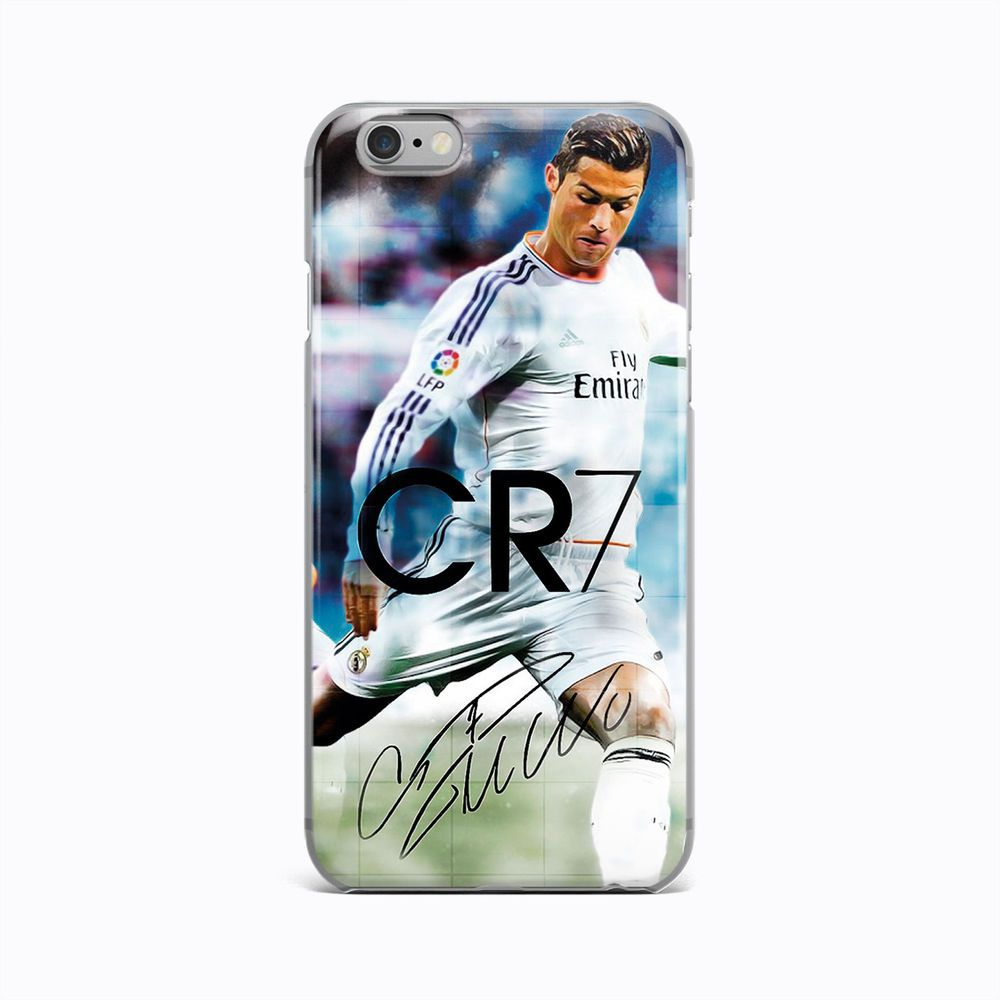 2c86efad9f8 CR7 Cristiano Ronaldo Real Madrid Rubber Case Cover iPhone 4 4S 5 5S 6 6s  plus #Apple