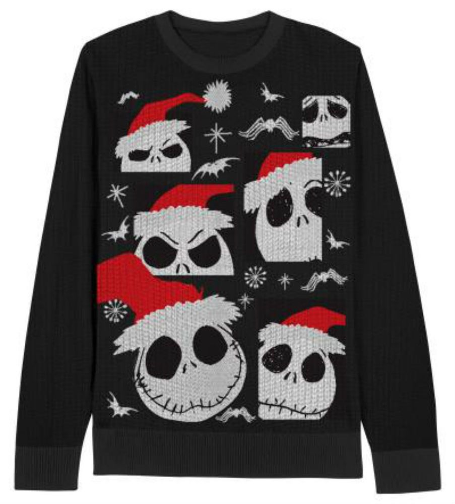 Disney nightmare before christmas jack skellington santa hat sweater ...