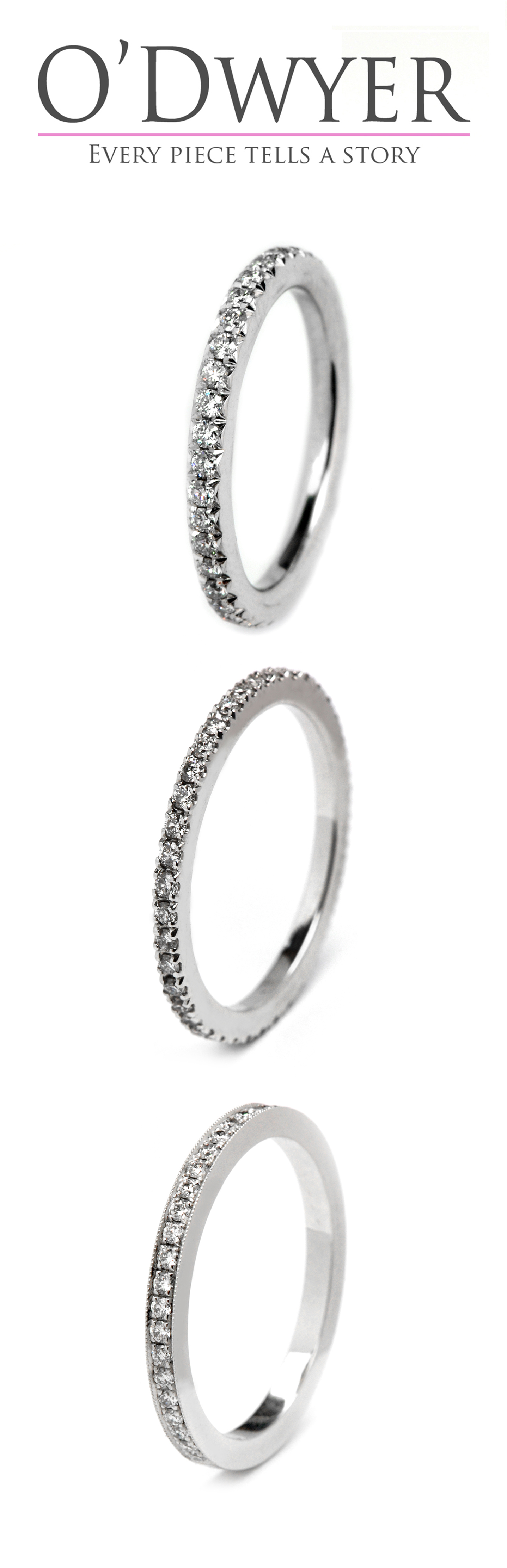 Wedding Bands 18ct white gold wedding bands with