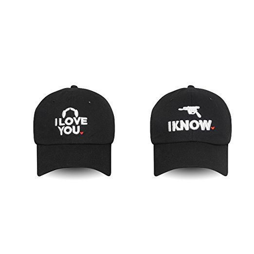 Couple Hats I Love You - I Know Embroidered Dad Hat 100% Cotton Baseball Cap  For Men And Women (Black) 8a057a991539