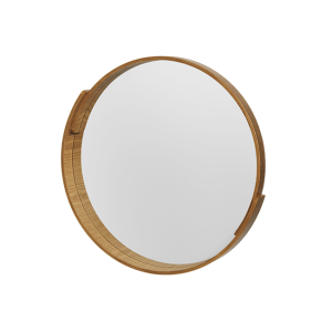 V A Plywood 50 X 50 Cm Miroir Rond Naturel Round Mirrors