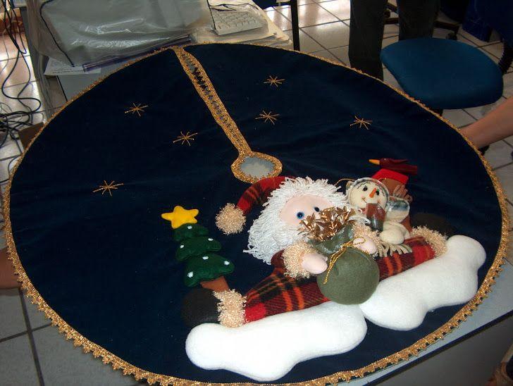 Pie de rbol santa patiabierto christmas rboles de - Arboles de navidad elegantes ...
