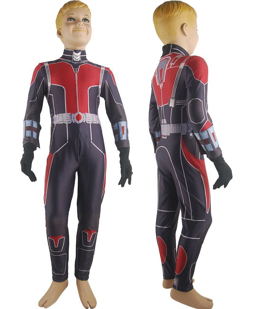 Ant-man cosplay Scott Lang costume super hero jumpsuit uniform ...