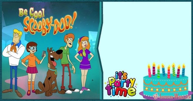 Scooby Doo Birthday Invitation Blank Templates Birthday