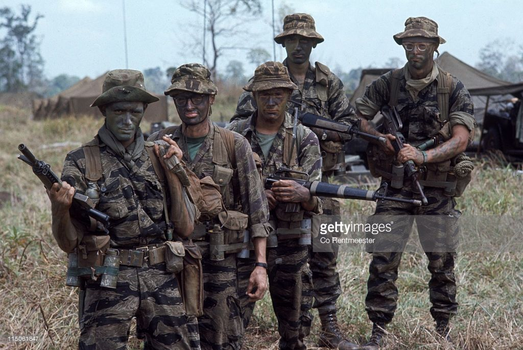 Portrait Of Members Of A Us Army Long Range Reconnaissance