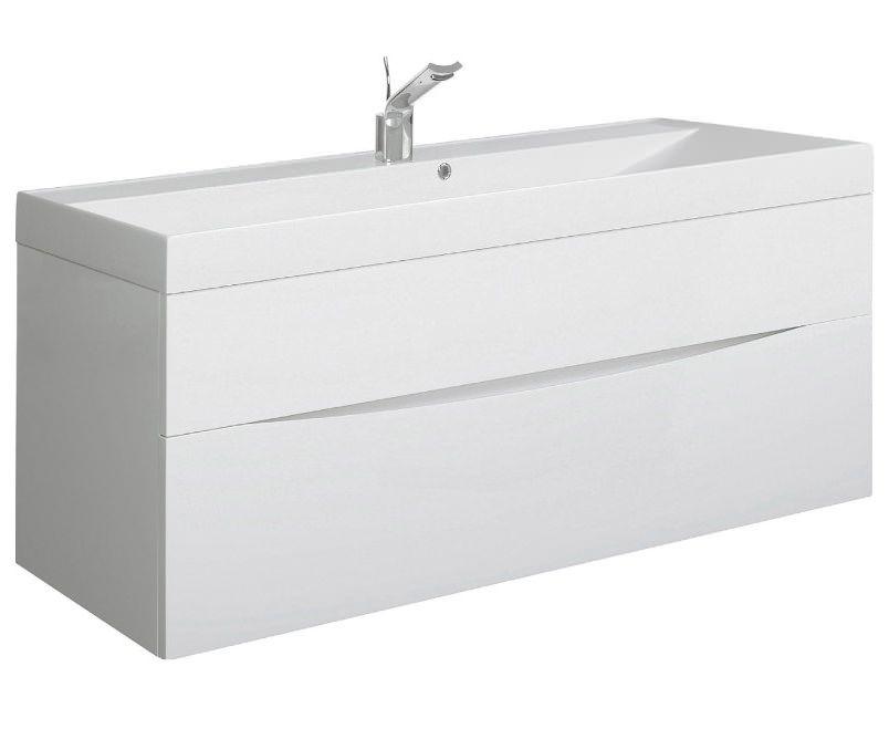 Bauhaus Glide II 1000mm Wall Hung Basin Unit White Gloss