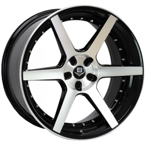 V8 STANCE 20X8.5 5X114.3 BLACK MACHINED FACE WHEEL & TYRE