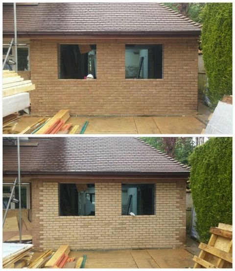After And Before Tinting By Colour Brick Cosmetics On A Garage Conversion