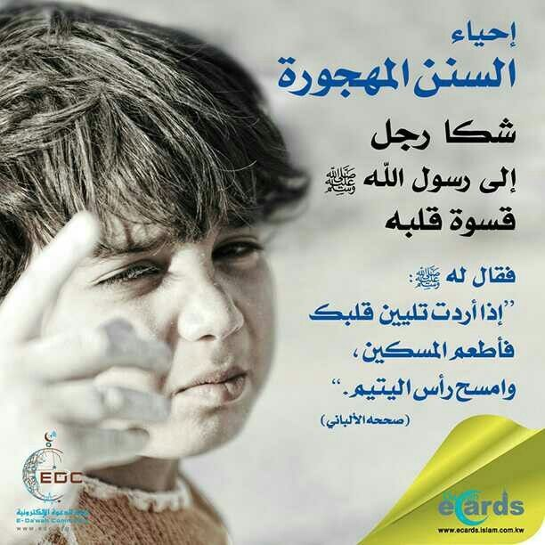 DesertRose,;,إذا أردت أن يلين قلبك فأطعم المساكين وامسح رأس اليتيم,;,    Peace be upon him, Insta pic, Islam
