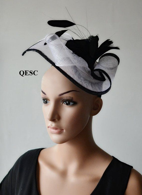 bd32e998 Turquoise blue unique design special shape sinamay fascinator with feathers,ideal  for Kentucky derby