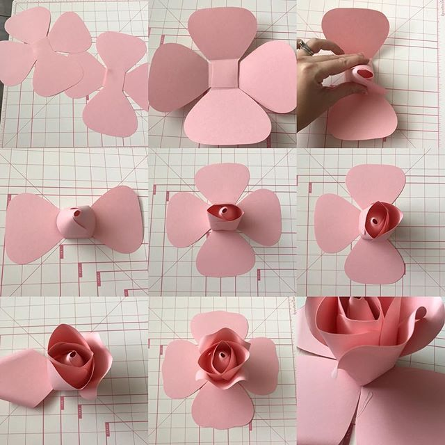Diy paper flower with rose center new template not sold yet please read previous post for for Paper roses template