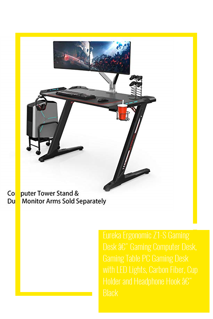 Eureka Ergonomic Z1S Gaming Desk – Gaming Computer Desk