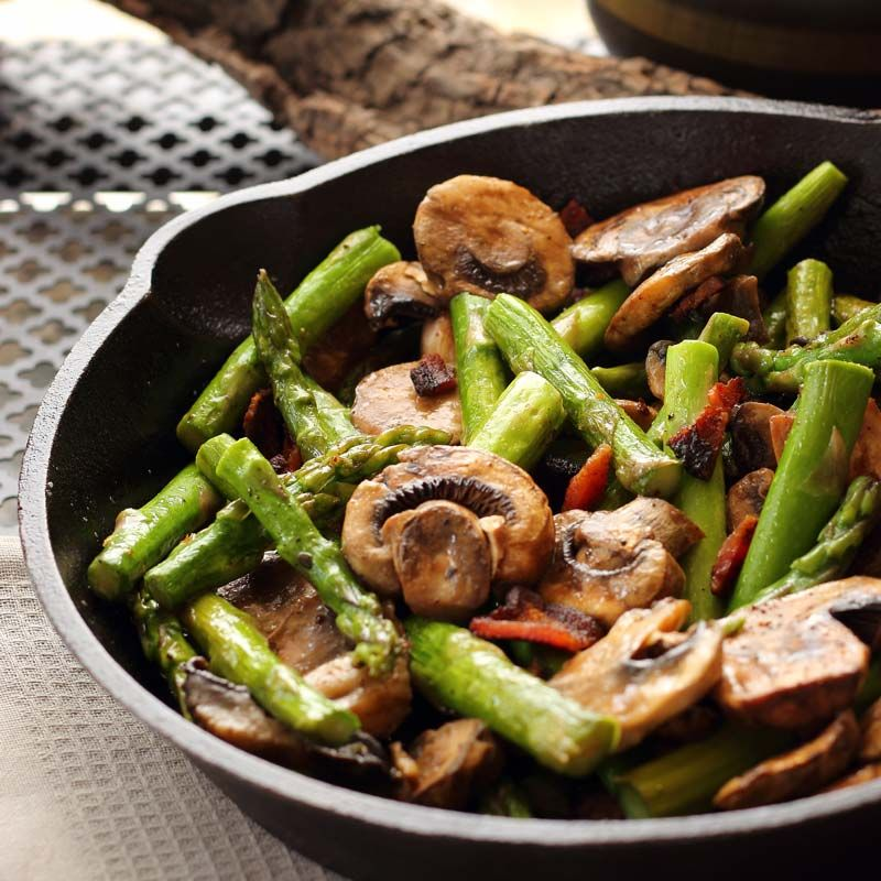15 Minute Asparagus Mushroom and Bacon | You can't go wrong | Oven Struck