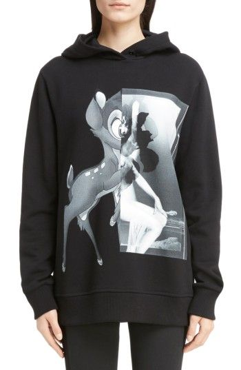 92d7a234519 GIVENCHY WOMEN'S GIVENCHY BAMBI COTTON HOODIE. #givenchy #cloth ...