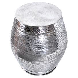 Hammered Aluminum Garden Stool With A Polished Finish. Product:  StoolConstruction Material: AluminumColor: