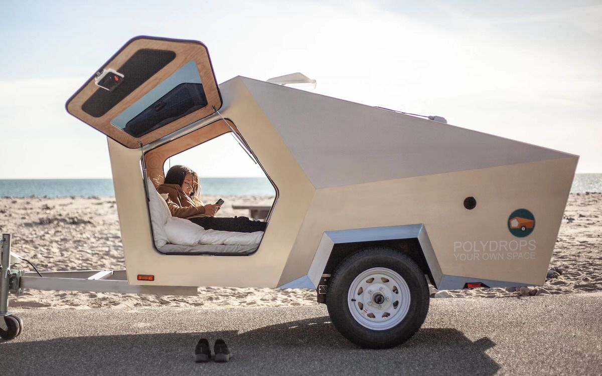Polydrop Isn T A Trailer It S A Portable Personal Space Remolque De Camping Remolques De Viaje Mini Casa Rodante