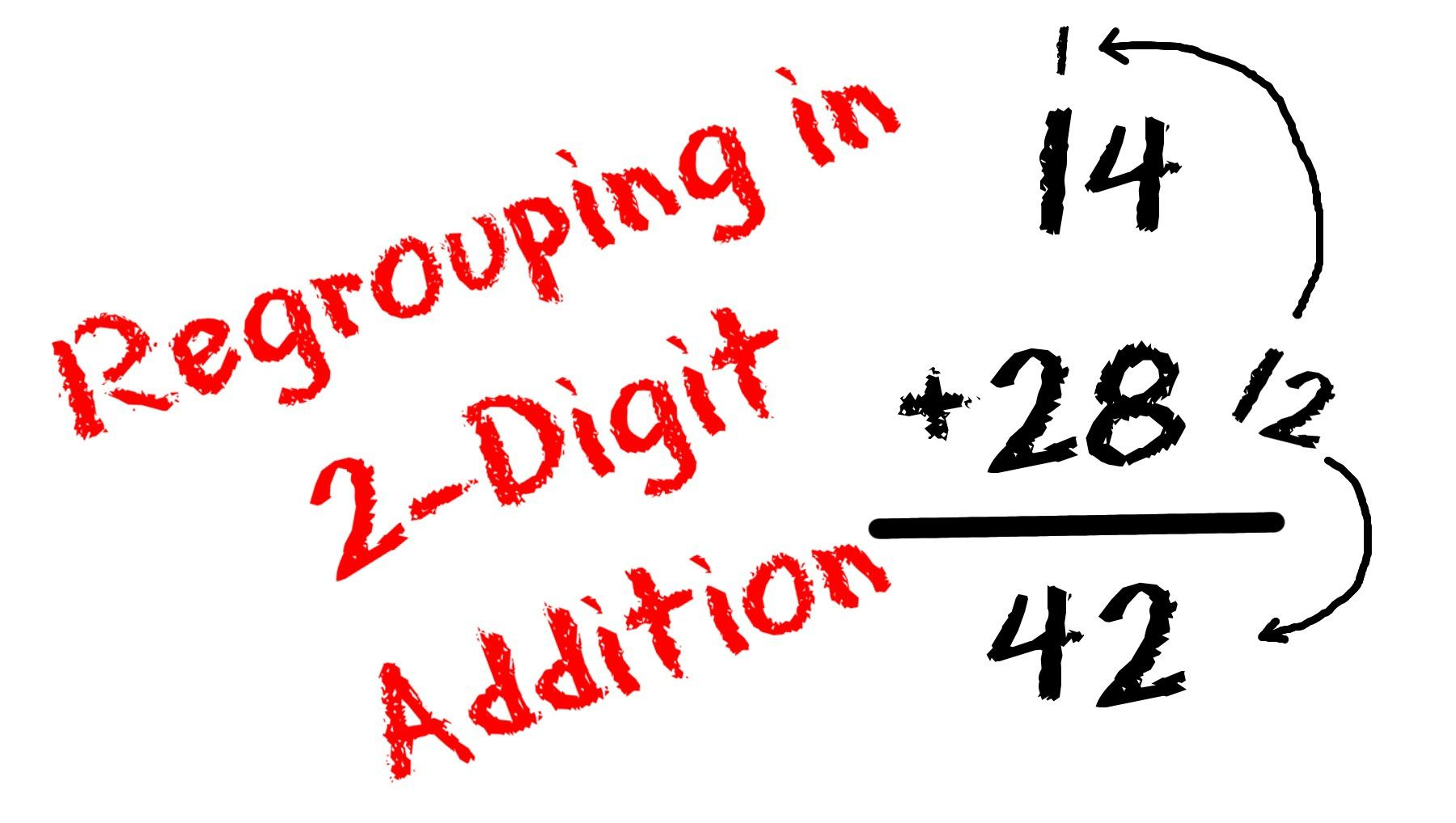 2 Digit Addition With Regrouping Carrying And Place Value For Kids Freeschool Regrouping Apple Math Place Values Mathantics addition with regrouping