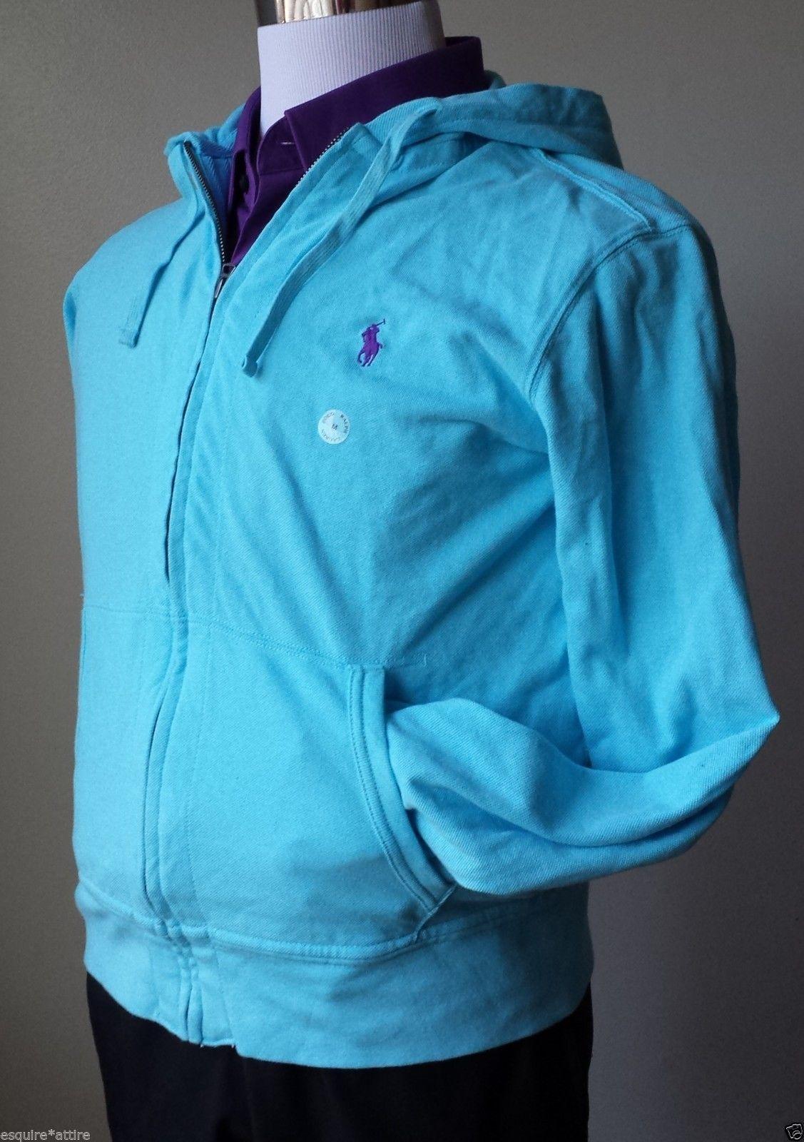 #POLO Ralph Lauren men size M full size zip blue hoodie NWT light cotton RalphLauren visit our ebay store at  http://stores.ebay.com/esquirestore