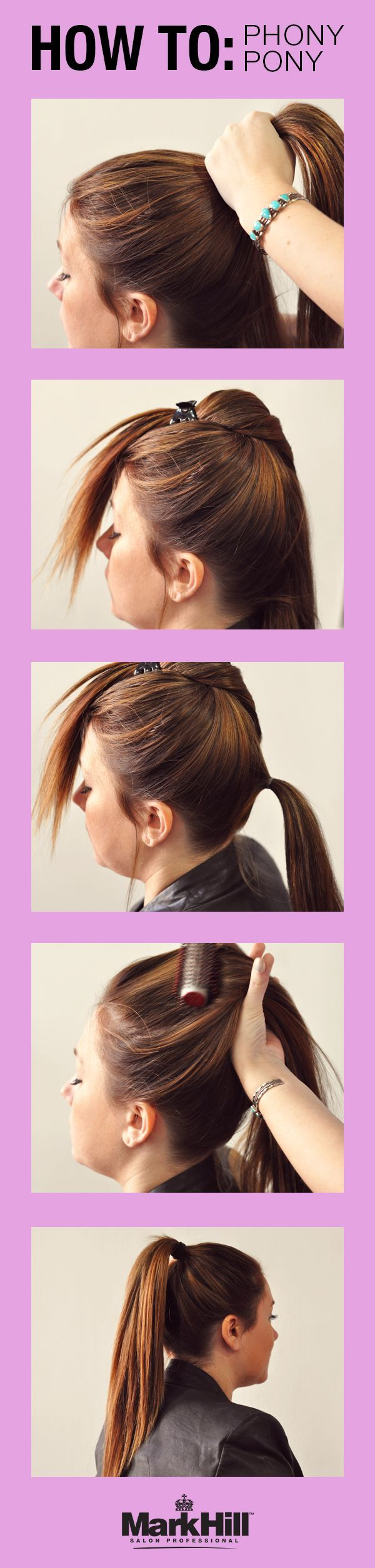 Get a longer, fuller ponytail with this quick hair trick. #fullerponytail Get a longer, fuller ponytail with this quick hair trick. #fullerponytail