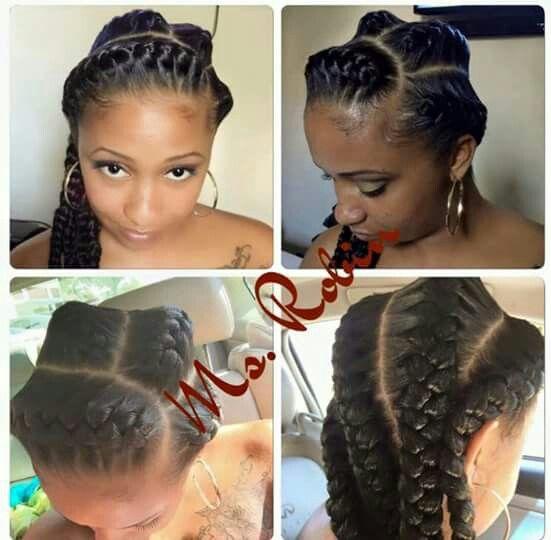 Inverted braids | Whoop HAIR it is!! | Pinterest ...