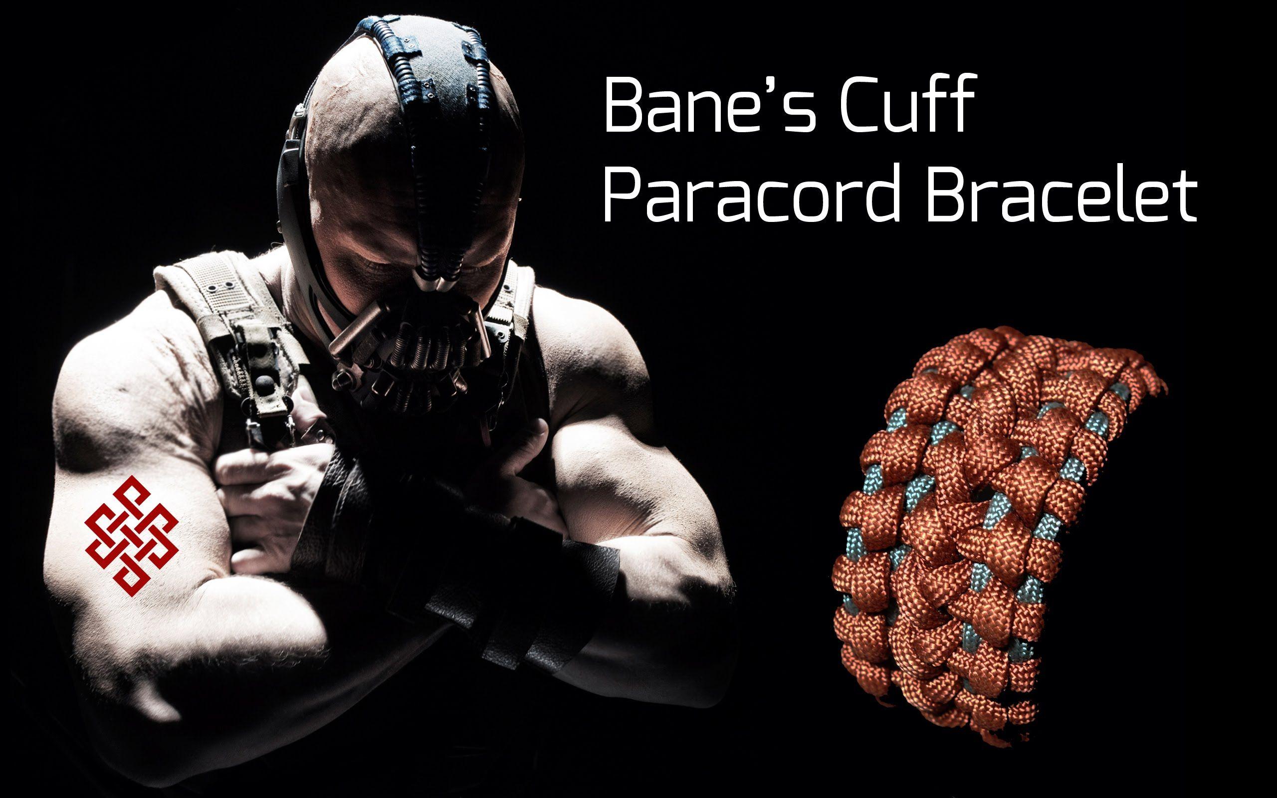 Bane S Cuff Paracord Bracelet Tutorial Paracord Bracelet