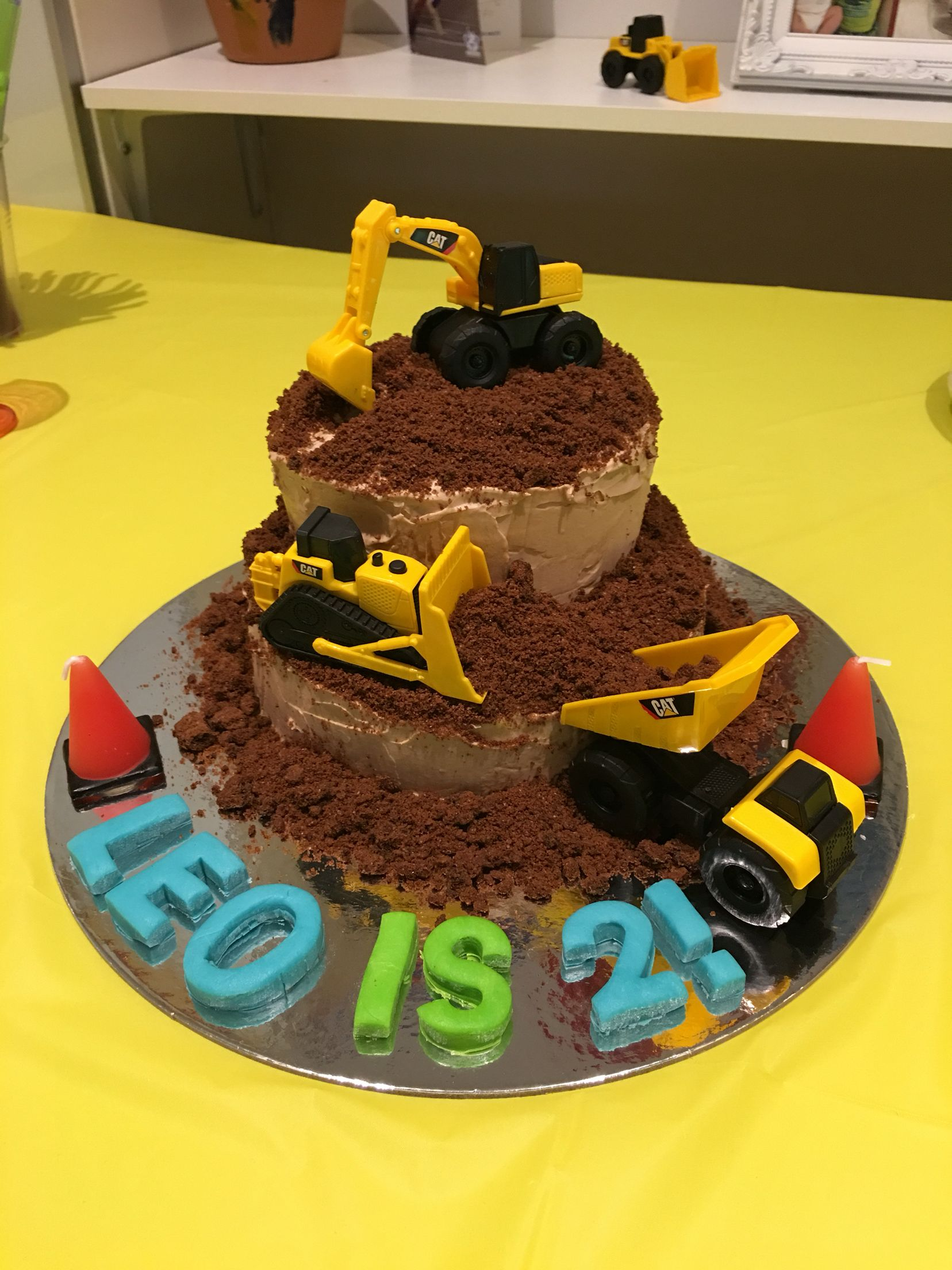 Digger Excavator Cake More 4 Year Old Boy Pinterest