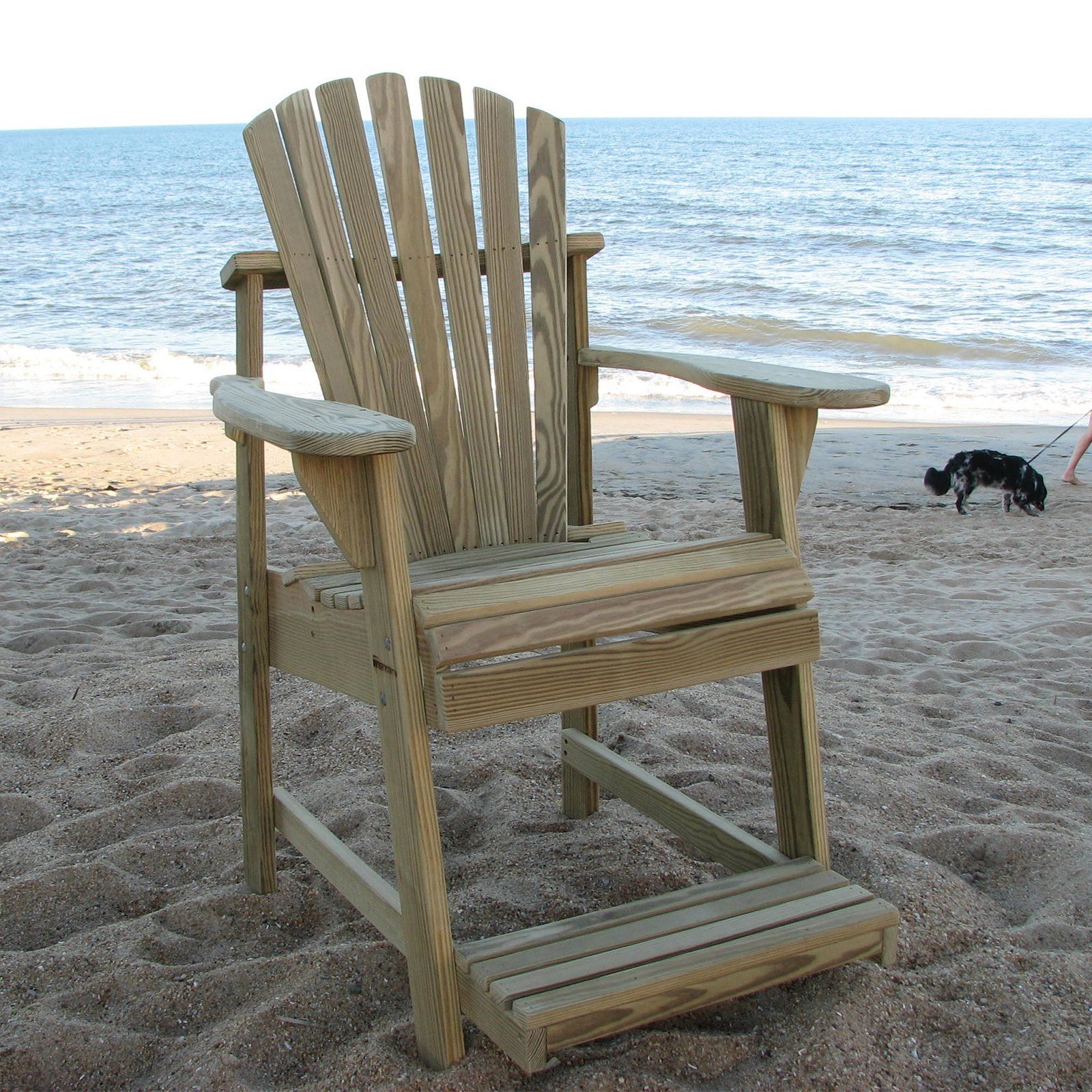 High Quality Outdoor Weathercraft Designers Choice Treated Balcony Adirondack Chair With  Footrest   Natural   401 500. FootrestUnfinished WoodAdirondack ...
