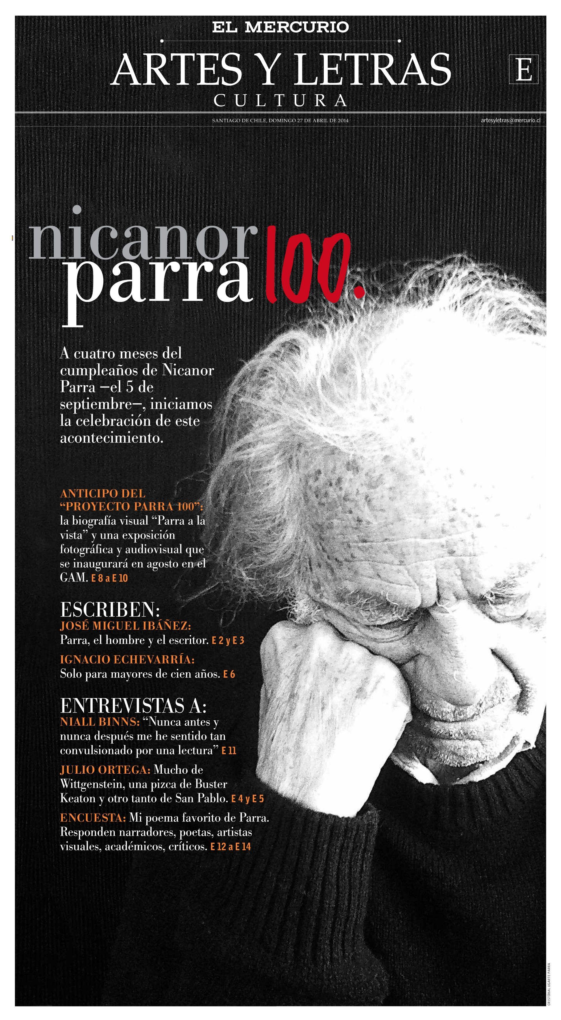 Nicanor Parra 100 | El Mercurio (27.04.14) | Poetas a granel ...