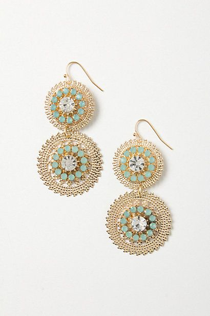 Cogflower Earrings #anthropologie