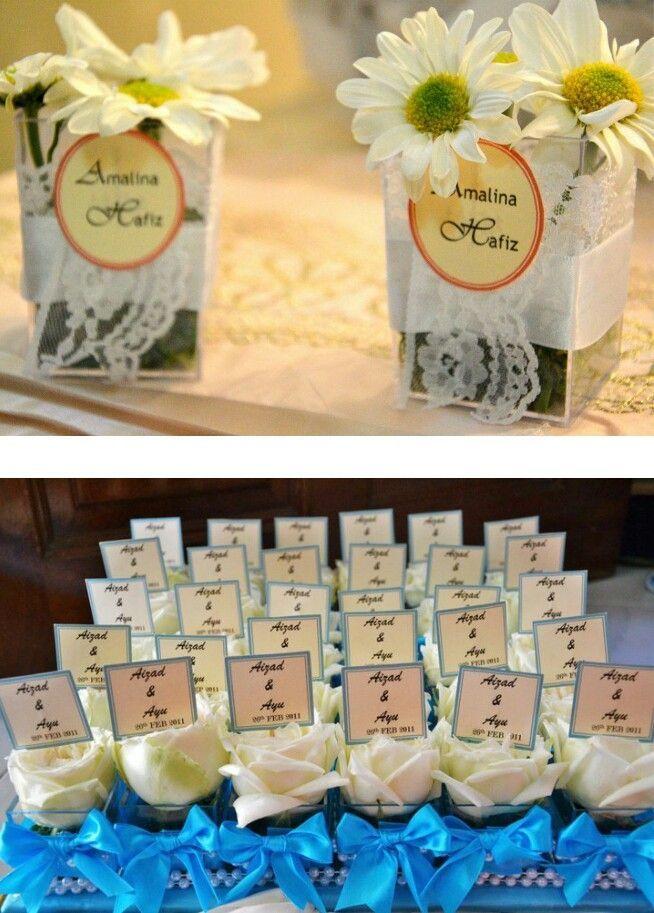 Souvenir Pernikahan Pernikahan Bunga