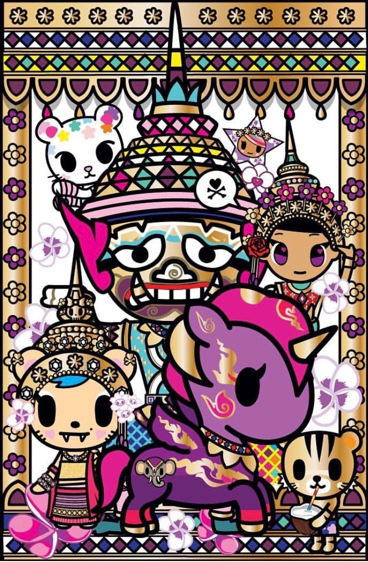 Cute Real Pigs Iphone Wallpaper Tokidoki Tokidoki In 2019 Kawaii Hawaii Art Candy Paint