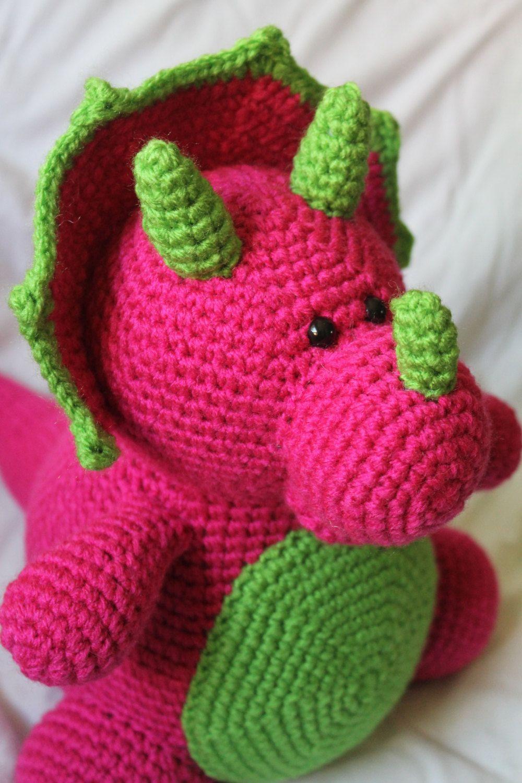 Tina The Triceratops Amigurumi Plush Crochet Pattern Only Pdf