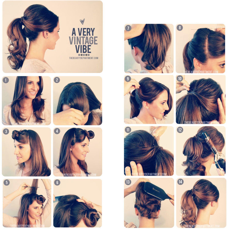 tutorial de como fazer penteado vintage e retrô anos 60 - passo a