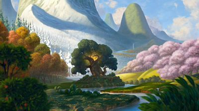 tinkerbell pixie hollow tree - Google Search