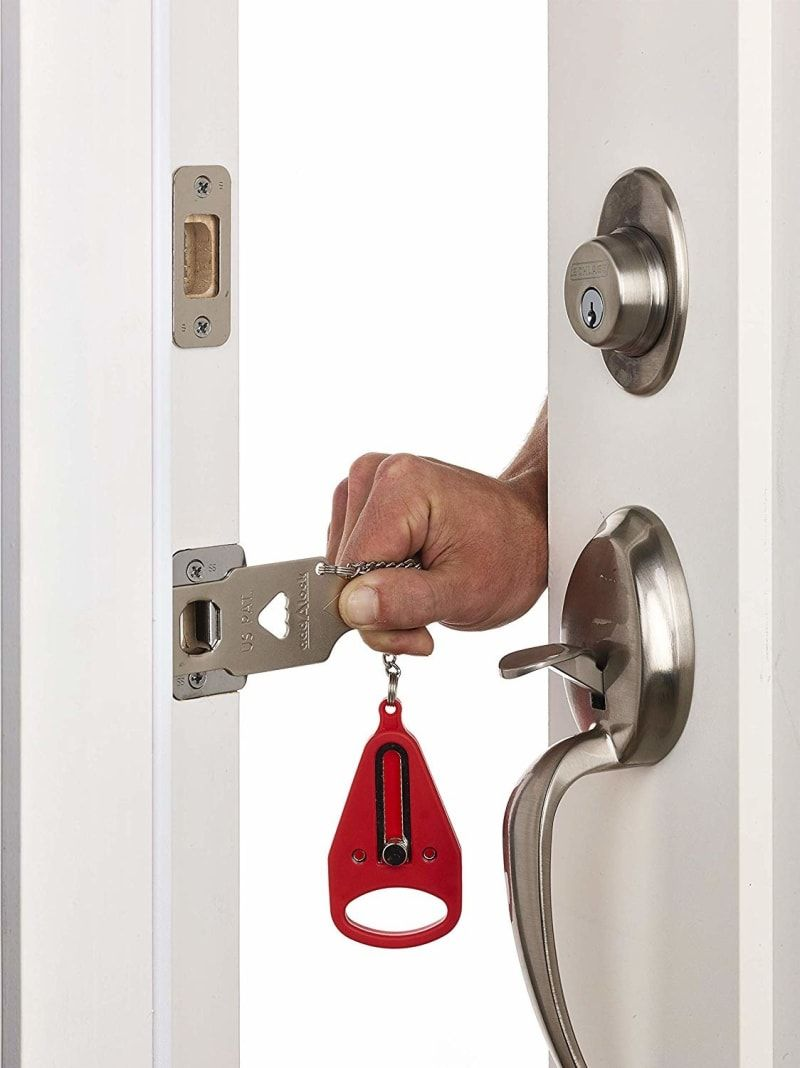 19 Products That Ll Help You Get More Privacy At Work With Images Hotel Door Locks Door Lock Security Travel Lock