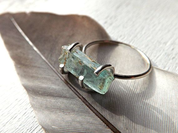 Hey, I found this really awesome Etsy listing at https://www.etsy.com/listing/237534544/rough-aquamarine-ring-silver-engagement