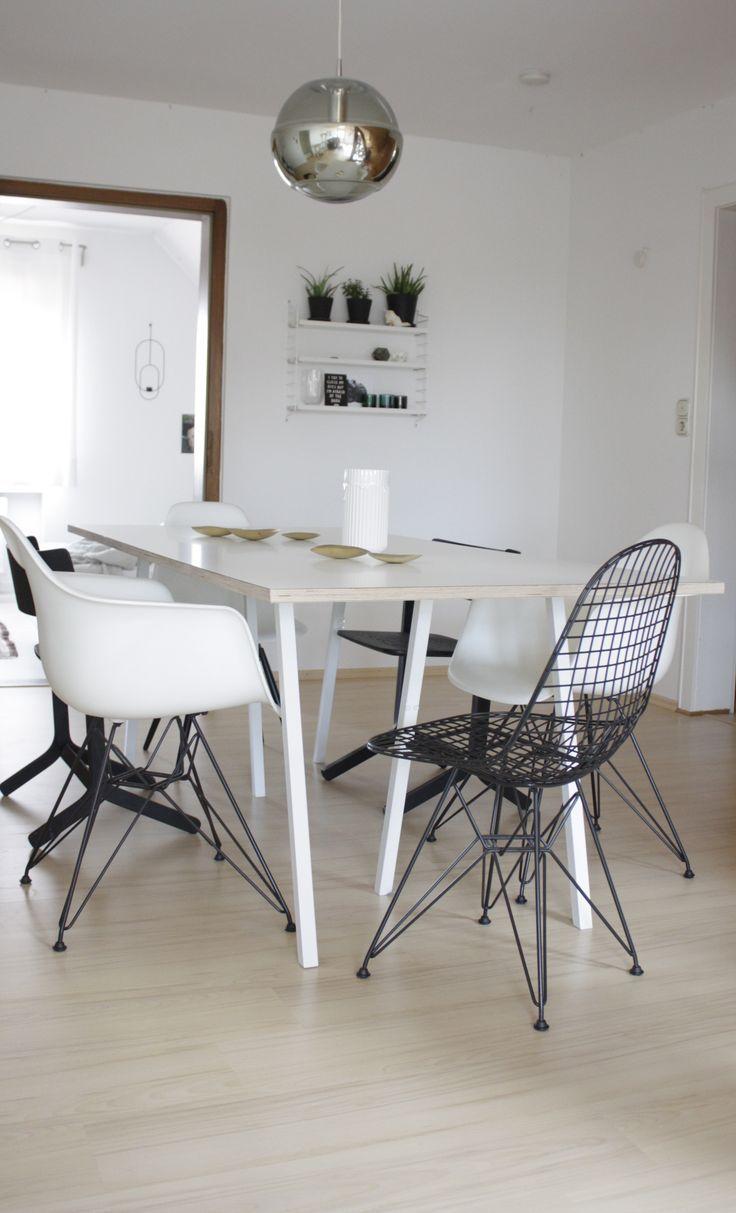Vitra Wire Chair Dkr H 43 Cm Basic Dark Ohne Bezug Filzgleiter Basic Dark Esszimmerstuhle Drahtstuhl Und Eames Stuhl