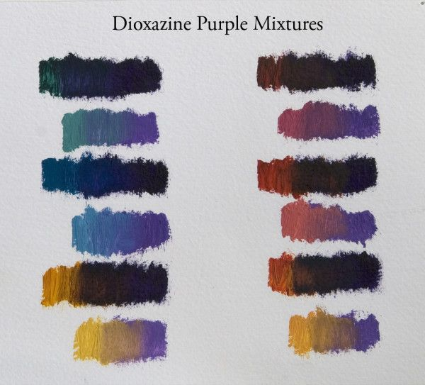 Favorite Paint Mixtures Dioxazine Purple Purple Watercolor